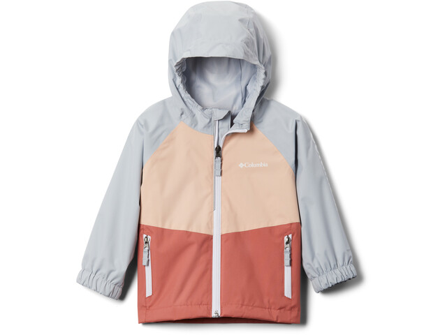 Columbia Dalby Springs Chaqueta Niños, dark coral/peach cloud/cirrus grey